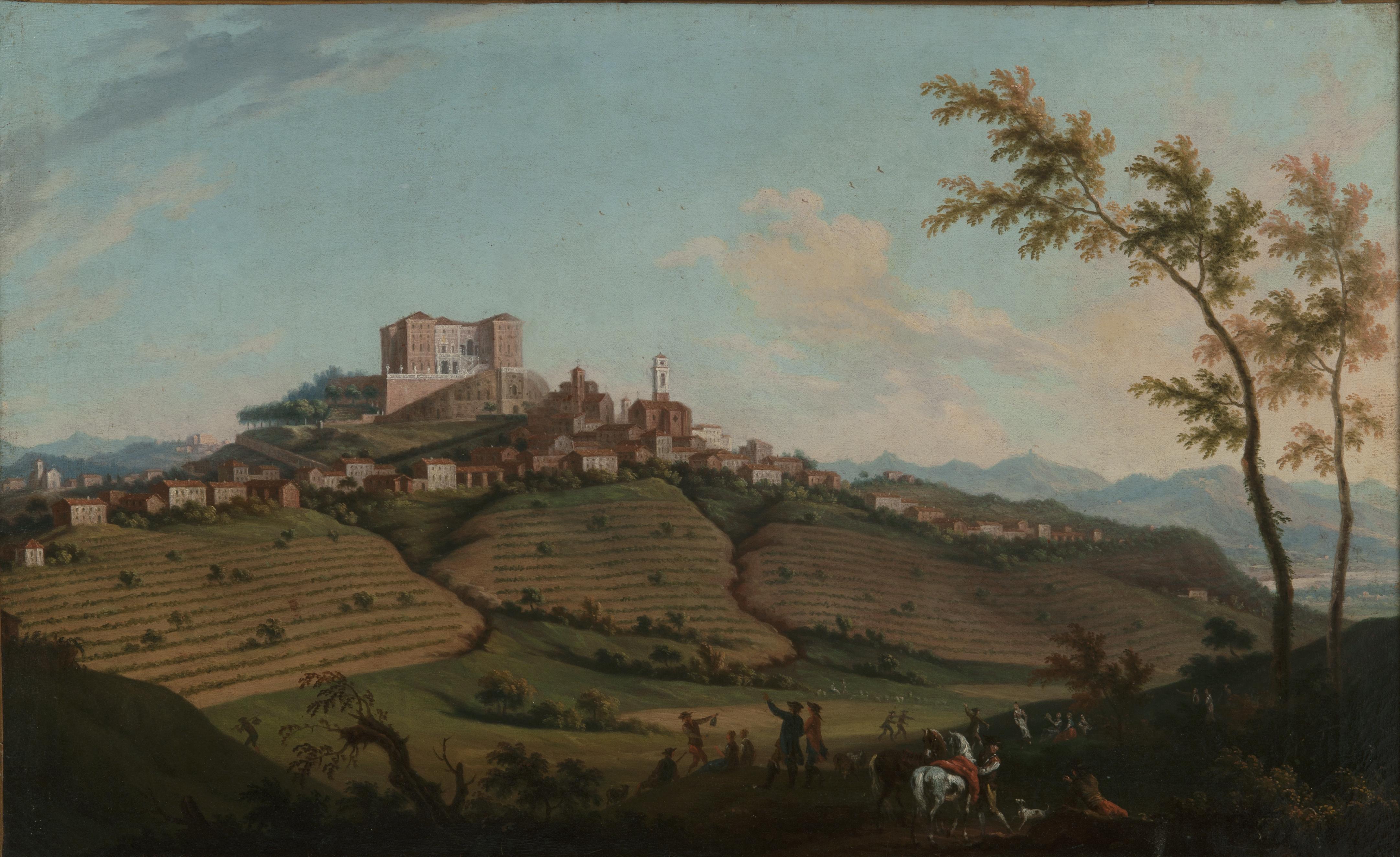 V. Amedeo e A. Cignaroli, Veduta di Govone, fine XVIII sec., olio su tela, collezione privata